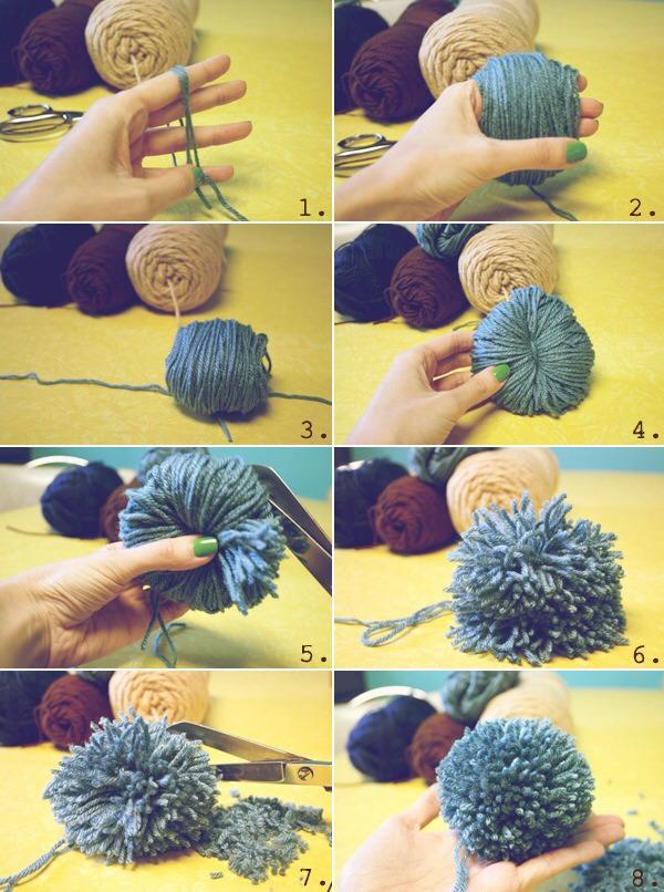 Как сделать большой помпон для шапки из пряжи