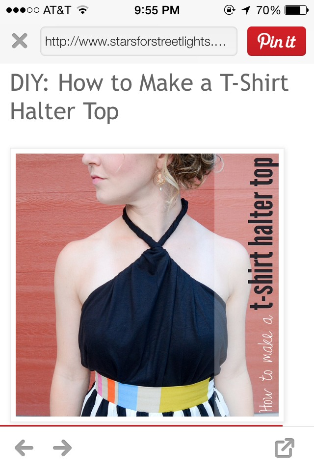 Make A Halter Top Out Of An Old T Shirt Musely