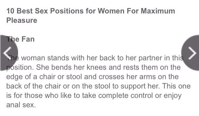 Maximum achieve sexual pleasure position to
