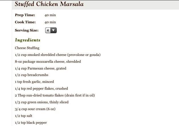 Olive Garden 39 S Stuffed Chicken Marsala Recipe So Freakin Yummy Musely