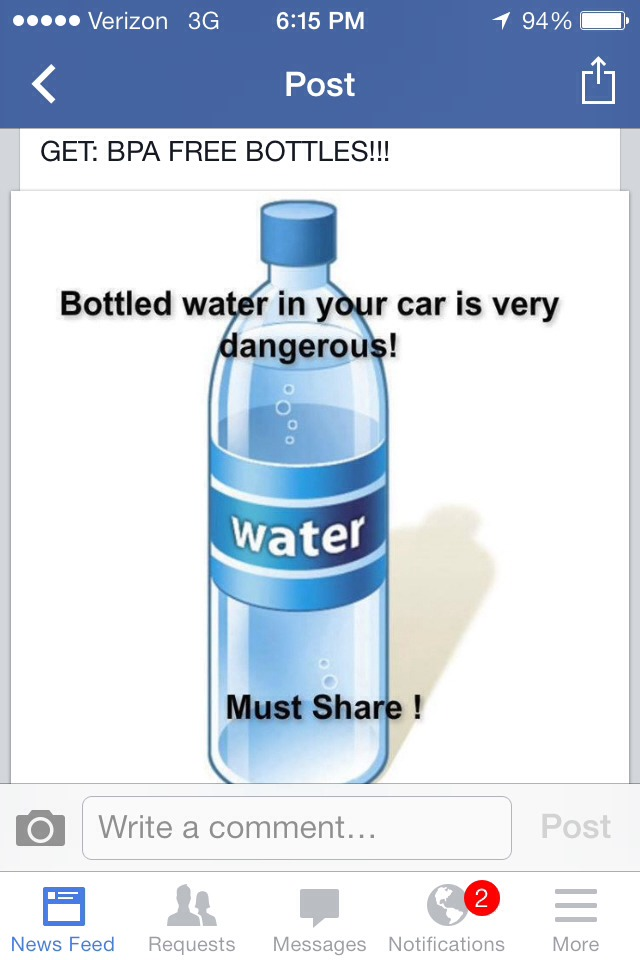 Drink Bottled Water Left In Car