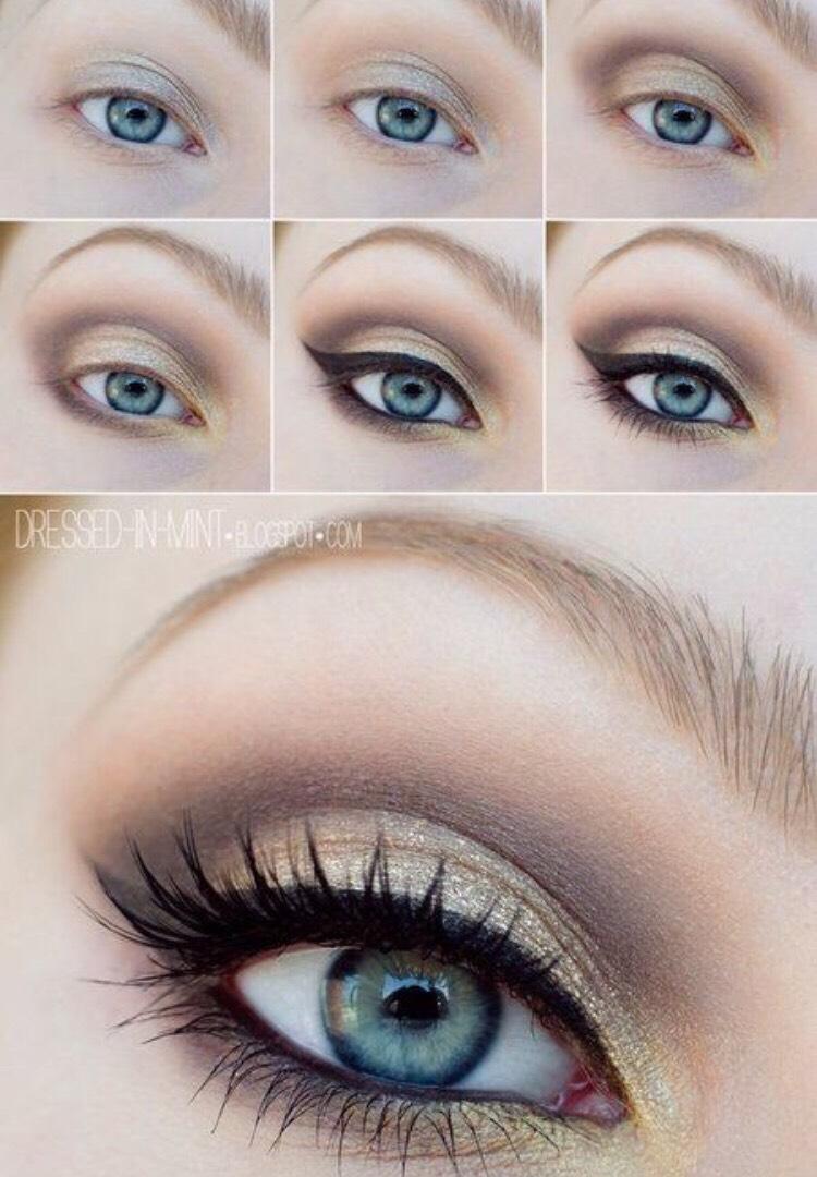 Дневной макияж для блондинок с голубыми глазами фото пошагово