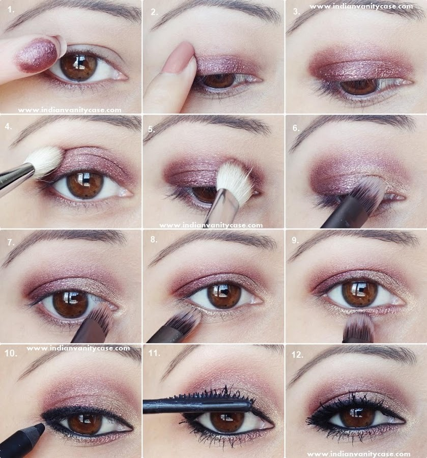 Step By Step Pop Of Color Eye Makeup Musely