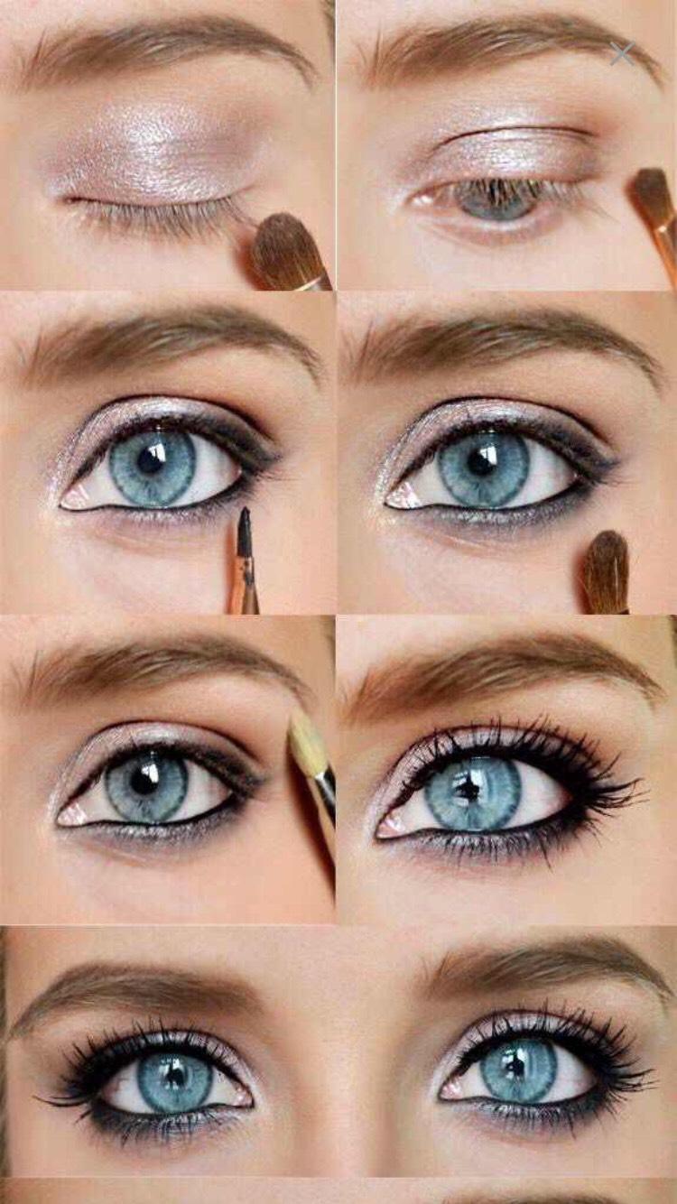 Макияжа серых глаз пошаговое в домашних условиях
