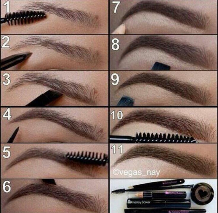 Как оформлять и красить брови