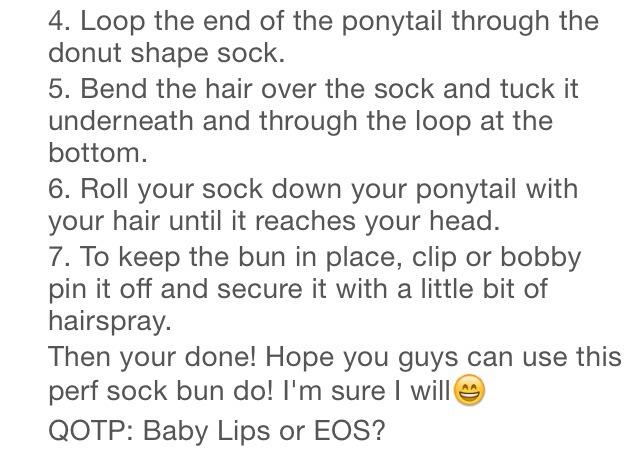 how to make a sock bun youtube