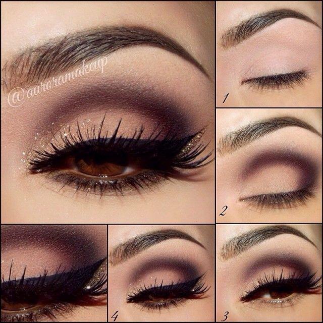 Идея макияжа для карих глаз фото
