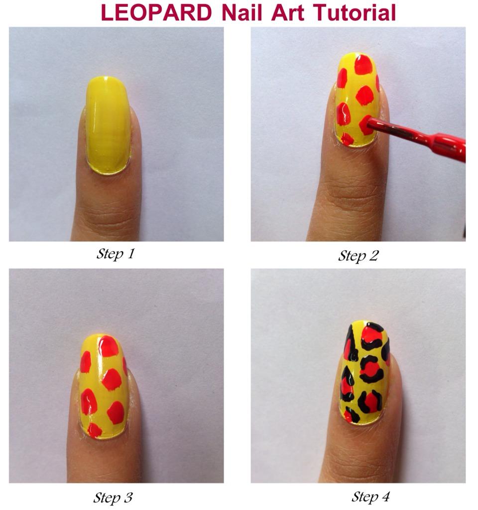 Как делать рисунки на ногтях пошагово