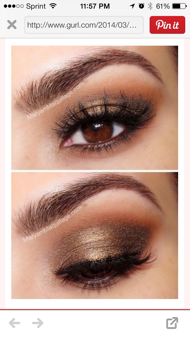 Easy makeup ideas for brown eyes