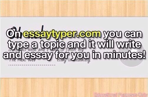 Need to write an essay