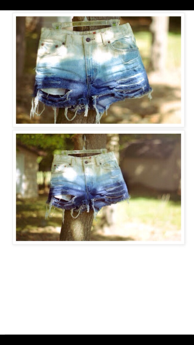 Diy shorts bleach