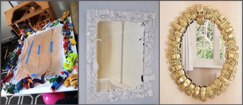 Декор старого зеркала своими руками 33