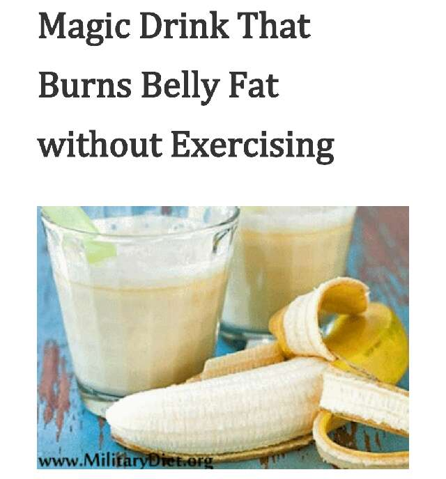 Magic-Drink-that-Burns-Belly-Fat-without-Exercising