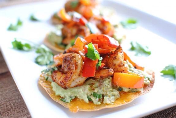 Simple Shrimp & Guacamole Tostadas 😋💯 - Musely