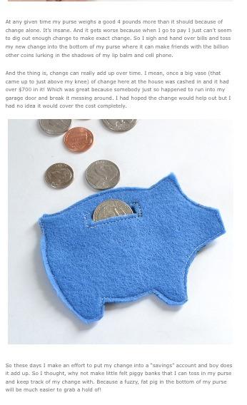 Diy Felt Piggy Bank Musely
