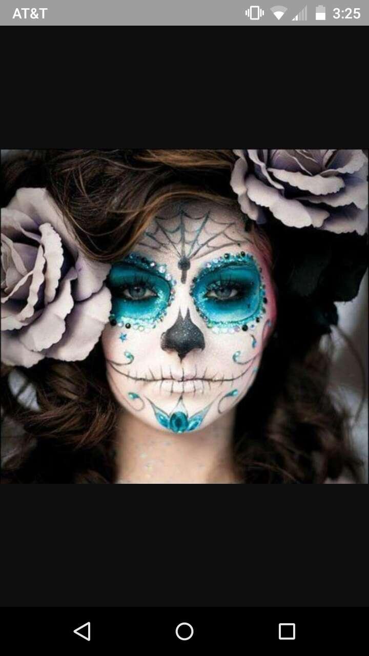 Фото макияжа на хэллоуин скелет