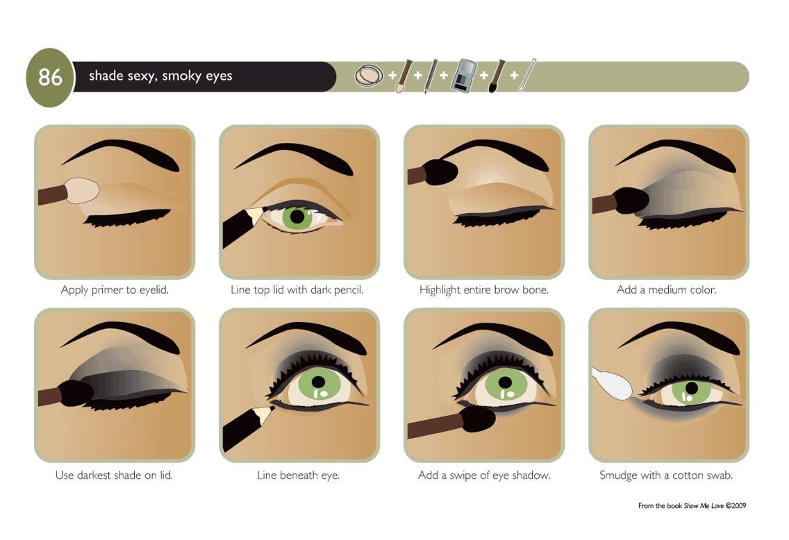 Инструкция как делать макияж глаз