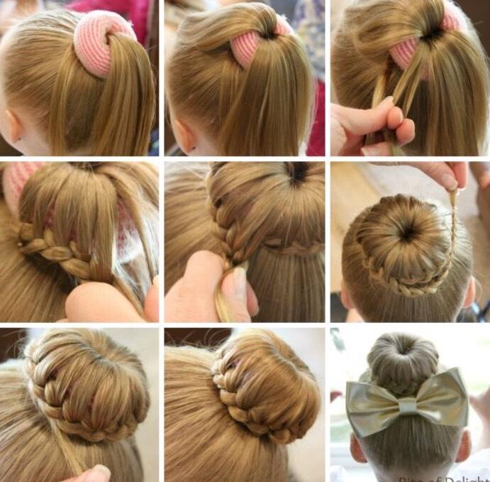 Пошаговое причесок на средние волосы ребенку