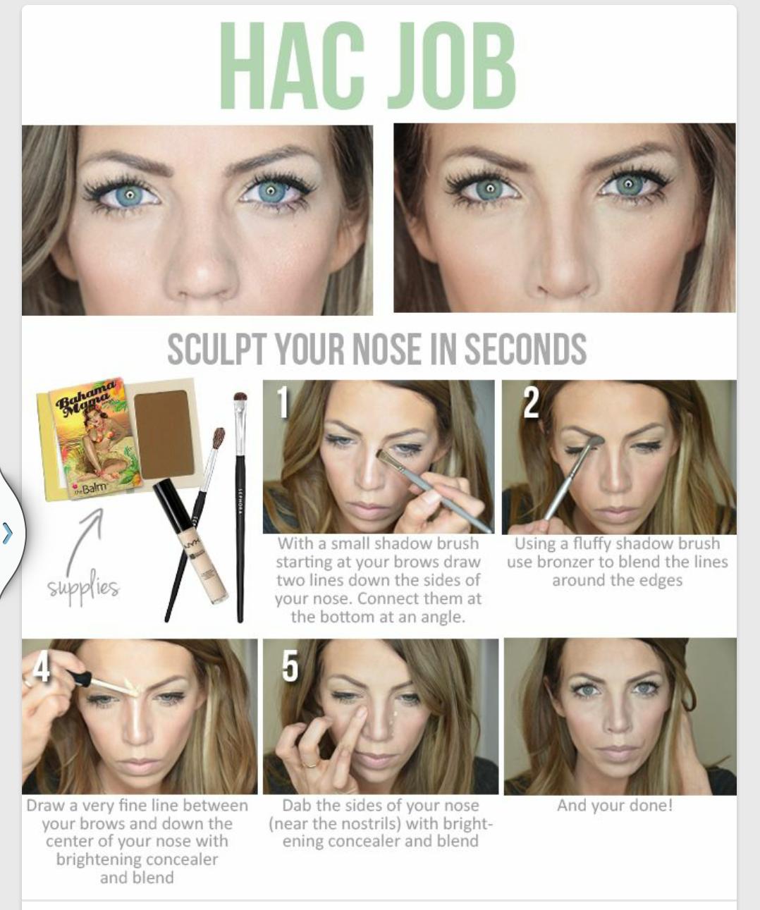 Как сделать чтоб нос казался меньше