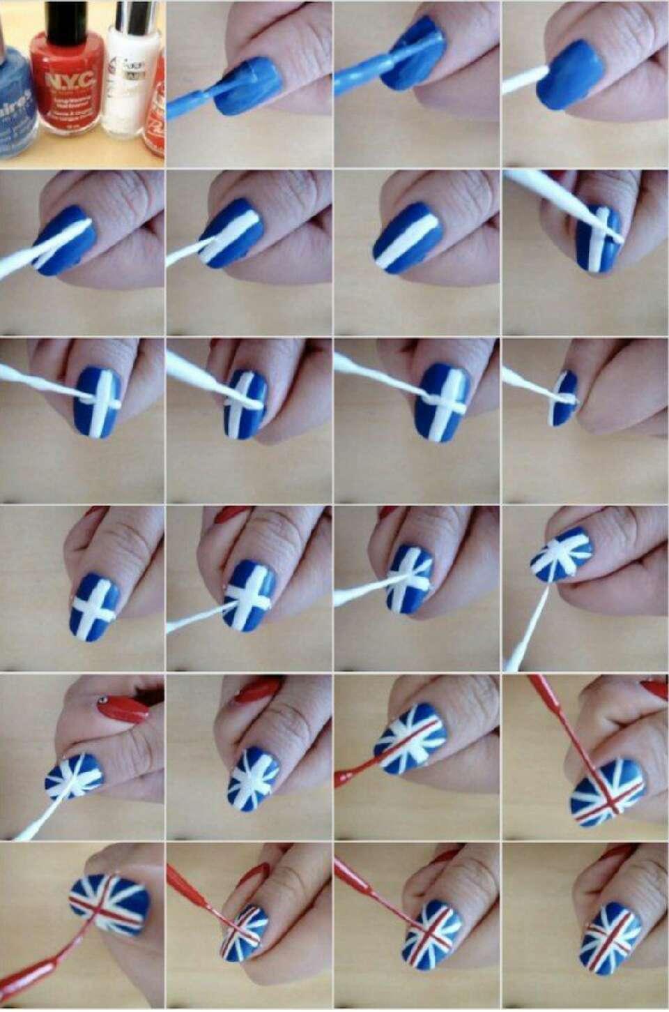 Как сделать рисунки на ногтях пошагово 715