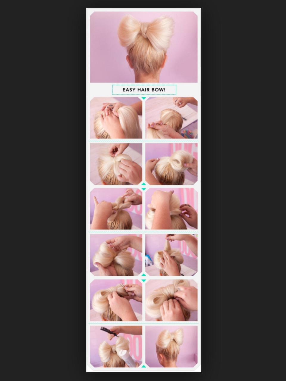 4 идеальных способа, как легко сделать бантик из волос за считанные минуты 43