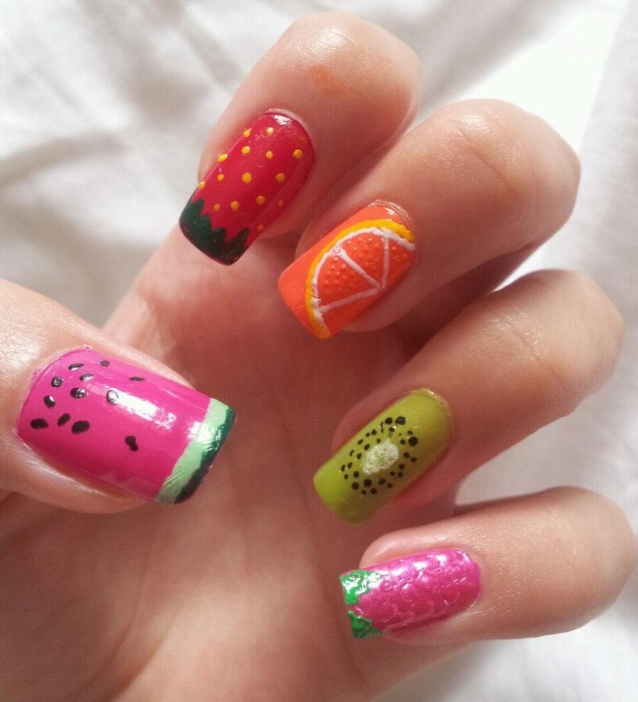 Дизайн ногтей Сочный апельсин МК Юлия Голубкова Идея 45