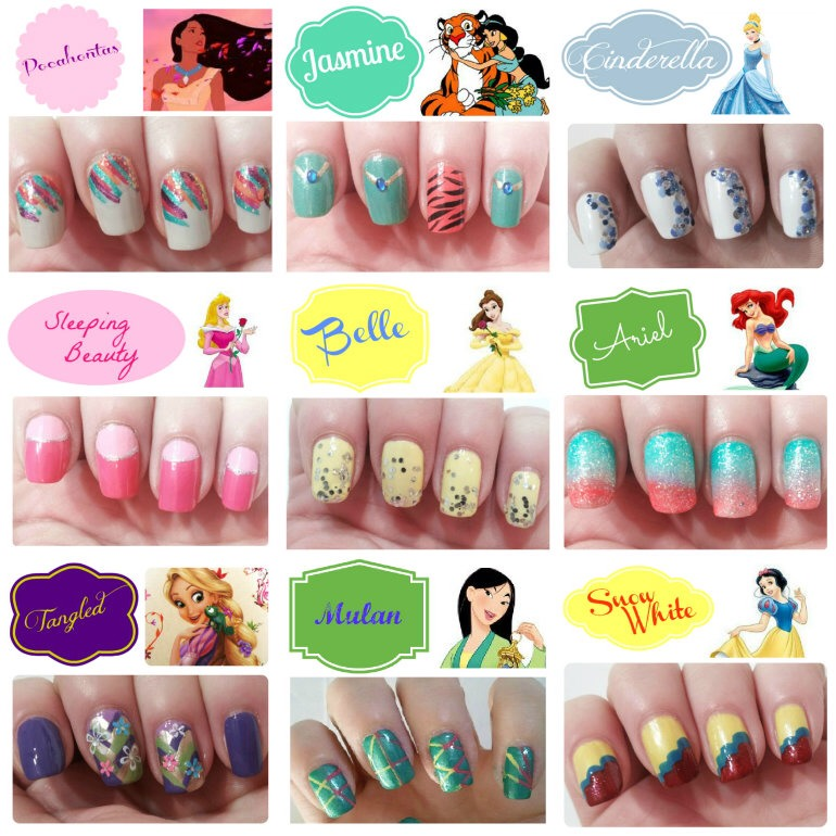 Disney Princess Inspired Nails Musely