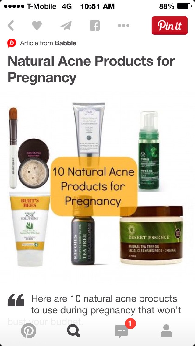 Best Acne Products For Pregnancy?