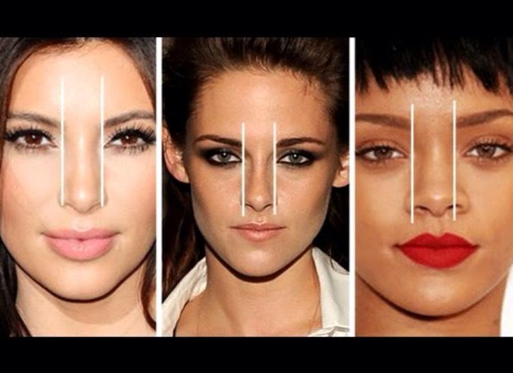 Какие брови подходят если большой нос