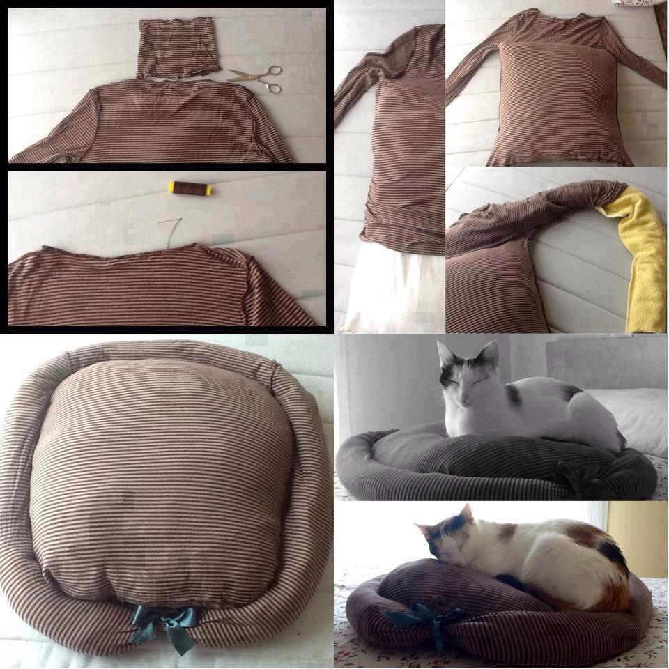 Как своими руками сделать лежанку для кота своими руками