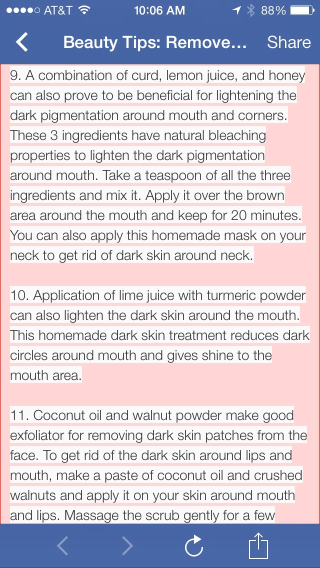 how to fix skin discoloration around mouth