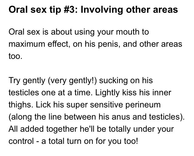 How to give the perfect blow job