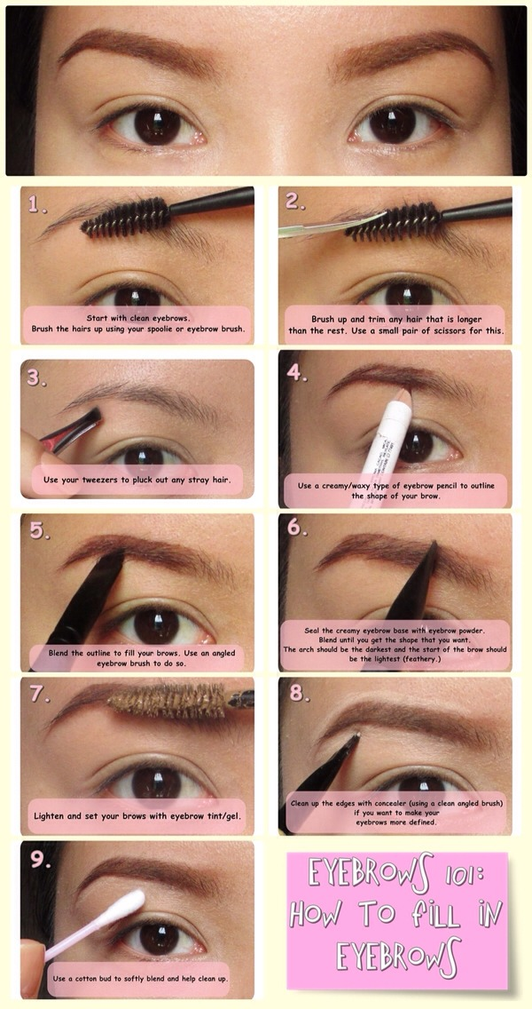 How To Fill In Your Eyebrows Properly 💚👍💚👍 Musely