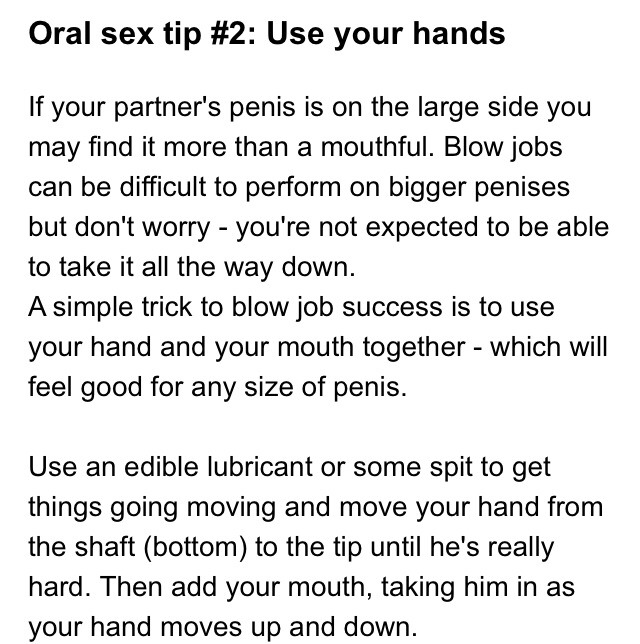 Tips for a perfect blowjob