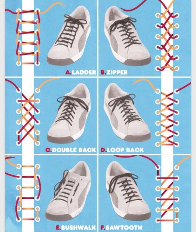 Ways To Tie A Shoe Lace