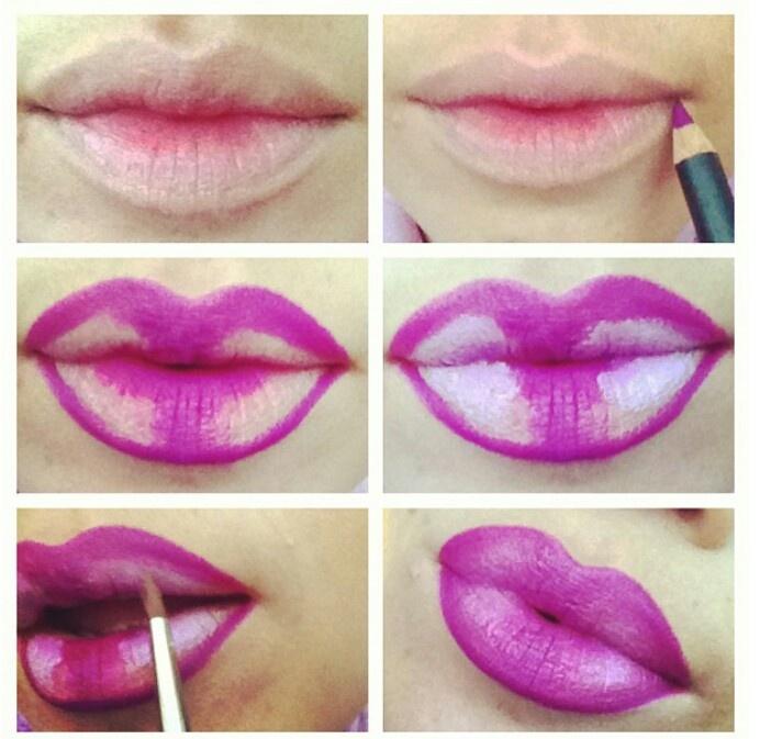 Как сделать губы объёмными в домашних условиях 589