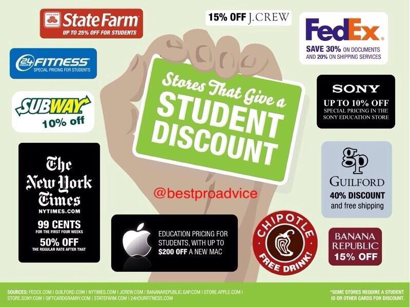 Find out how your Student ID can score you student discounts at these popular restaurants. Fast food + discounts = a happy student. Find out how your Student ID can score you student discounts at these popular restaurants. Fast food + discounts = a happy student. Find out how your Student ID can score you student discounts at these popular.