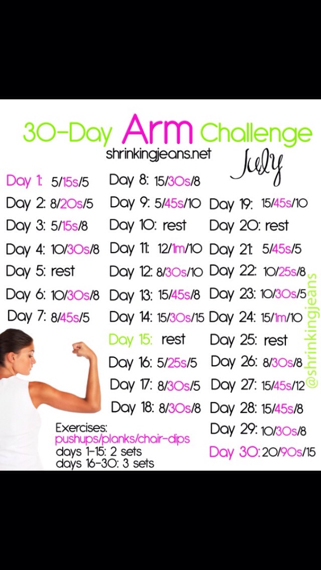 30 day arm challenge   musely