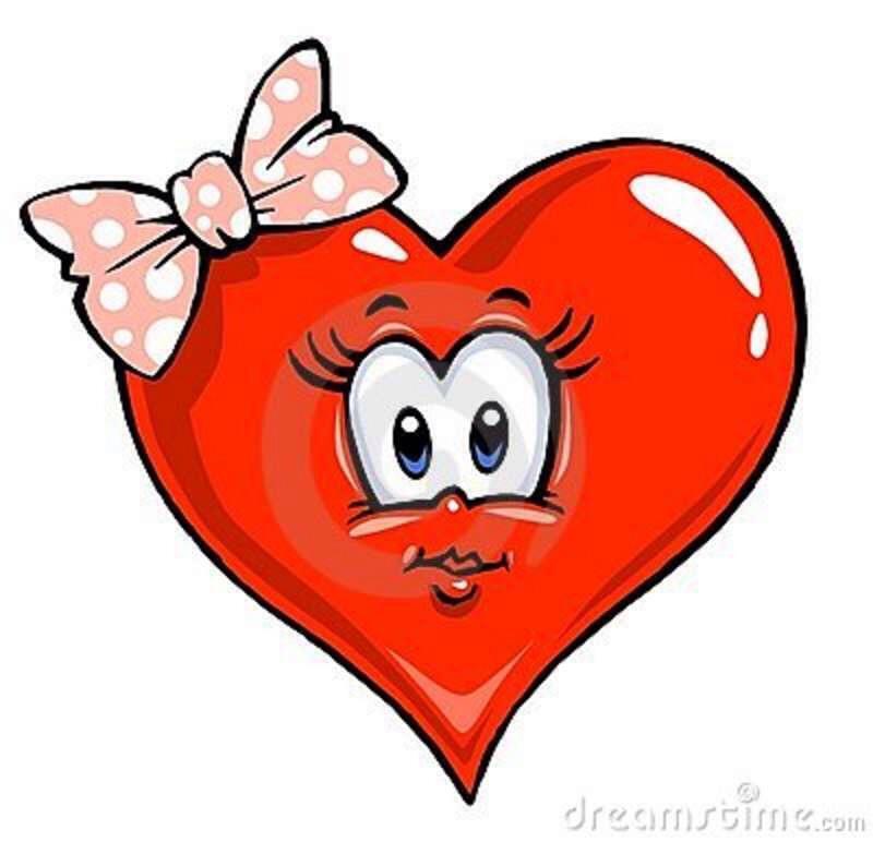 Рисунок сердца с глазами