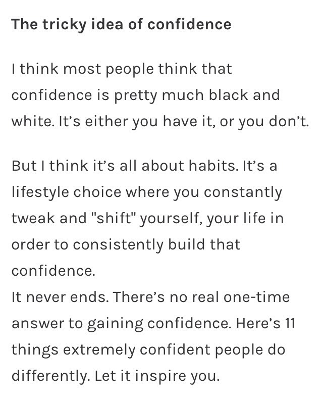 how to become extremely confident