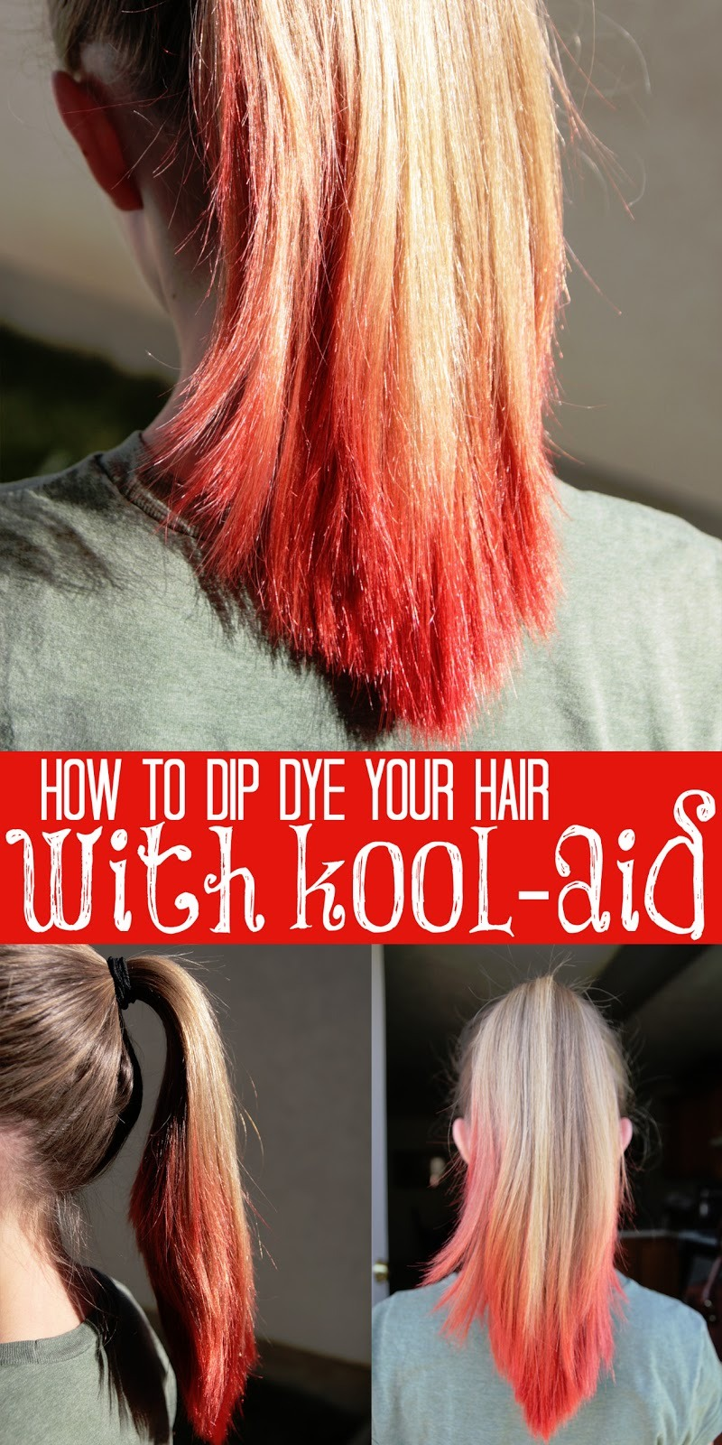 You can use boiled koolaid packs to die your hair musely for How to get hair dye off bathroom tiles