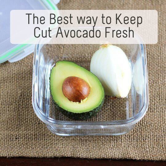 The Best Way To Keep Cut Avocado Fresh: