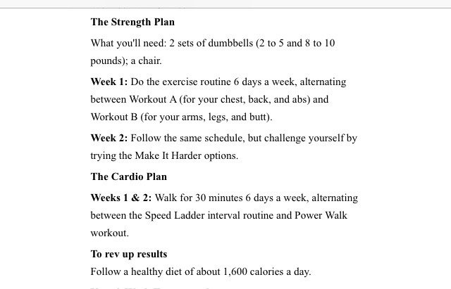 Workout Plan To Loose Inches In 2 Weeks Click On Any Of The Pages You Can T Fully Read See All Words Like Save And Follow