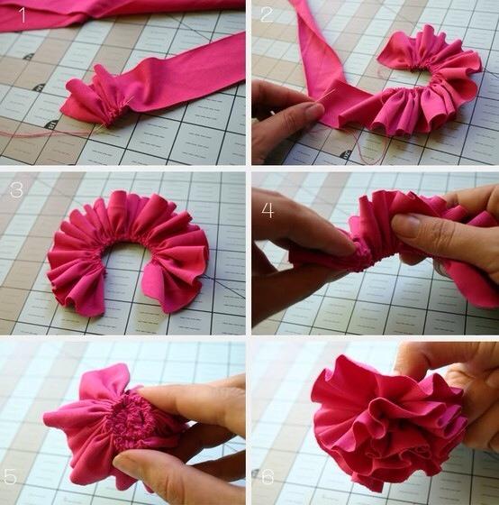 Своими руками цветочки из ткани
