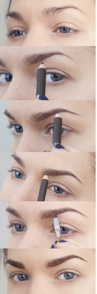how to get brushed up eyebrows