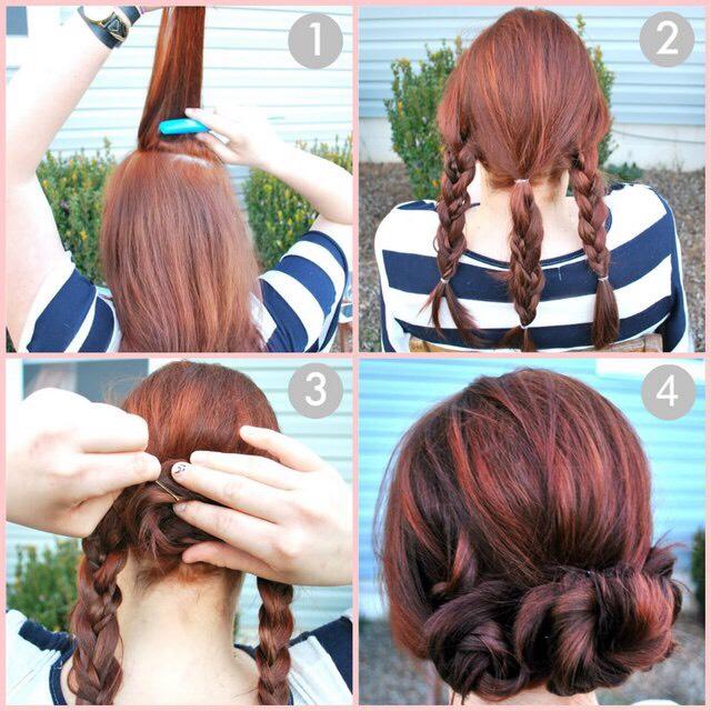 Как сделать красивые и лёгкие причёски