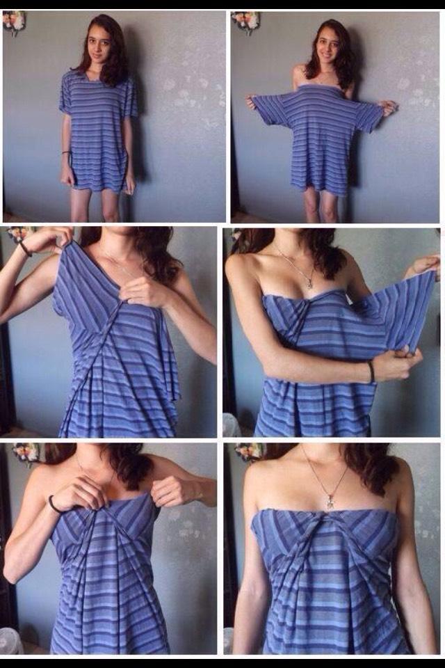Как из кофты сделать футболку