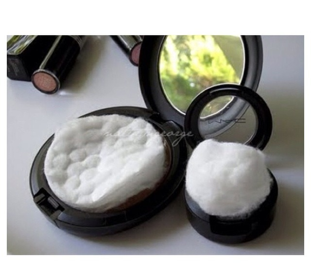 Put Cotton Pads And Balls To Keep Powders And Eyeshadow From Breaking Musely