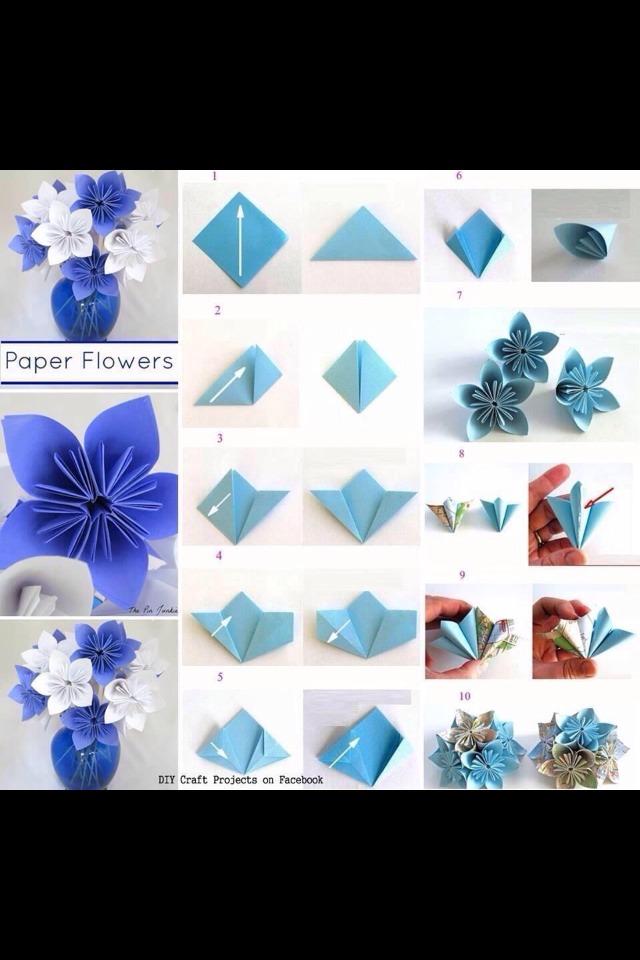 Как сделать белый цветок из бумаги поэтапно