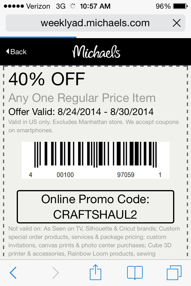Michaels coupon musely for Phone number for michaels craft store